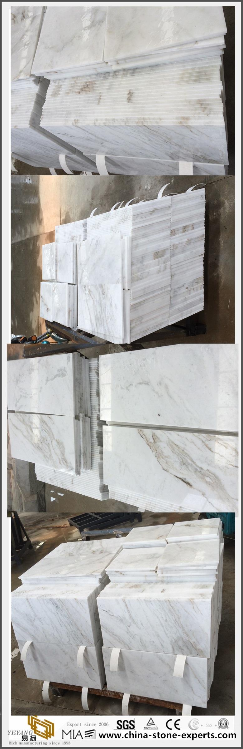 Arabescato Venato White Marble Tiles
