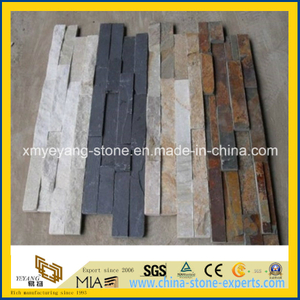 Black/White/Rusty/Yellow Natural Slate Stack Stone for Interior Wall