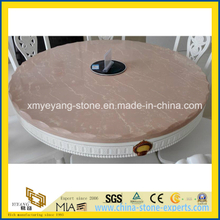 Prefabricate Pink Quartz Round Dinner Tabletop
