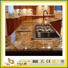 Natural Stone Polished Giallo Cecifia Granite Countertop for Kitchen/Bathroom (YQC)