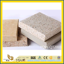 Grey/Beige/Brown Polished Artificial Quartz Stone for Kitchen Floor/Wall Tiles