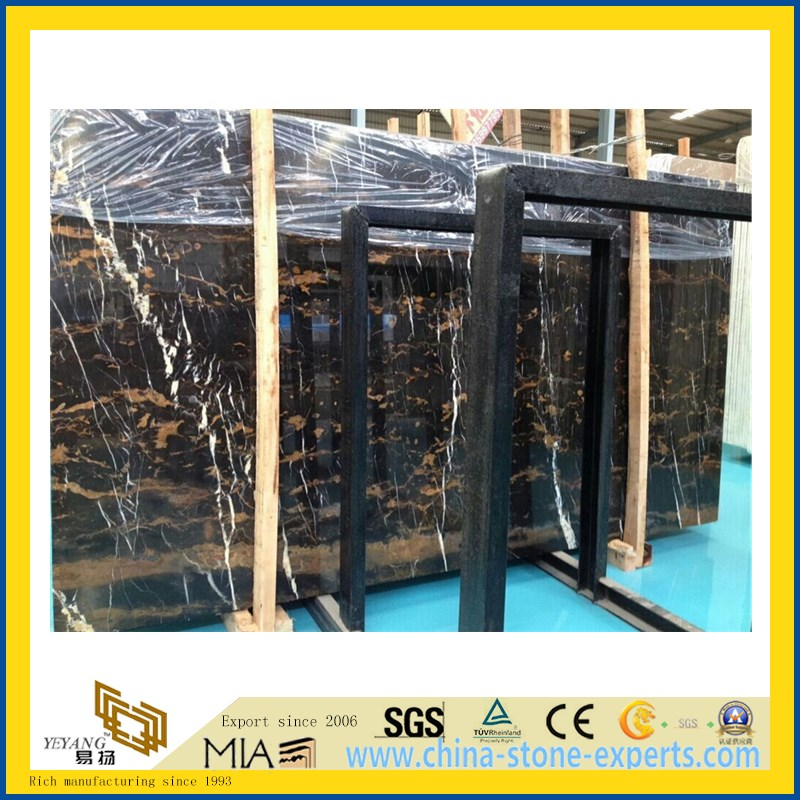 Black and Gold Marble for Flooring Decoration