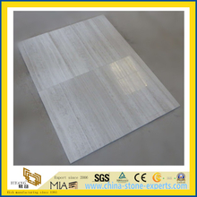 Wholesale White Wooden Grain Marble Tiles for Kitchen/Bathroom Wall & Floor