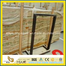 Translucent Bamboo Green Onyx for Background Walling