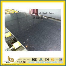 Crystal Dark Grey Quartz Stone for Indoor Decoration