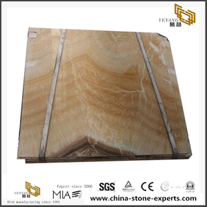 Resin Yellow Onyx Beige Marble Big Slab Stone