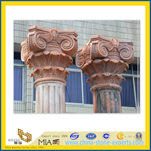 Carved Polished Marble Granite Roman Solid Column(YQG-LS1042)