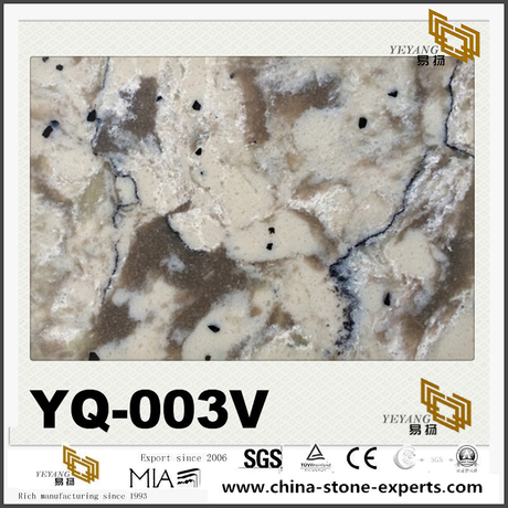 YQ-003V Grey Vein Quartz Slabs For Countertop