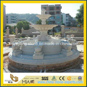 Hand Carving Natural Stone Large Fountain for Outdoor Garden Decoration