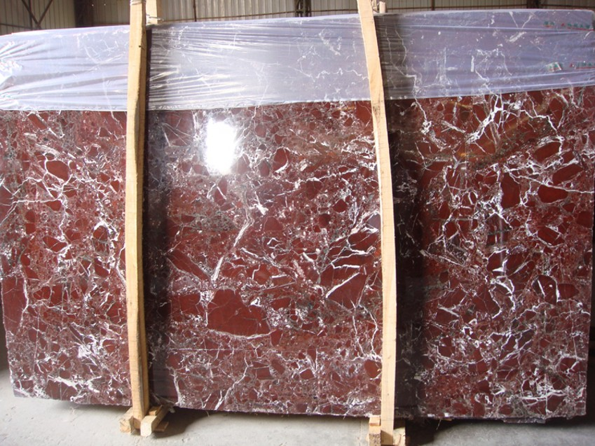 Imported Rosso Lepanto Marble Stone, Red Marble Slab