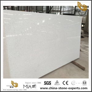 White Quartz Cryatal White YQ-CR101 For Countertop/Benchtop