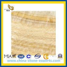 Yellow Onxy Agglomerated Marble for Floor Decoration(YQC)
