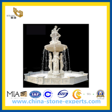 White Marble Female Statue Oudoor Stone Fountain(YQG-CS1041)