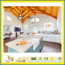 Pure White Artificial Quartz Stone Countertops for Kitchen and Bathroom
