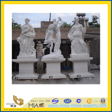 White Marble Art Figure Carving Sculpture / Statue for Garden, Landscape(YQG-LS1009)