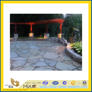 Natural Flagstone, Blue Paving Stone for Patio, Landscape, Garden (YQA-S1030)