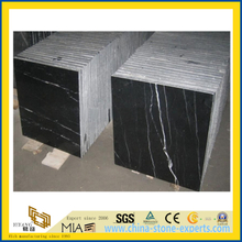 Nero Margiua Black Marble Tile for Flooring