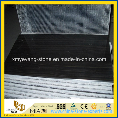 Black Wooden Vein / Black Wooden Grain Marble Floor Tile