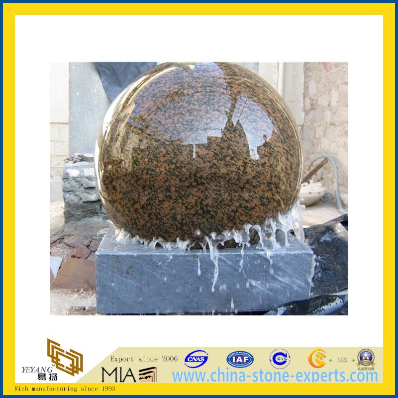 Cheap Price Granite Stone Garden Ball Water Fountain for