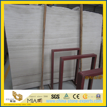 Chinese White Wooden Marble / White Wooden Gain Marble Slab