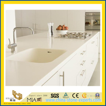 White Quartz Stone Countertop for Kitchen, Hotel (YQW-QC100641)