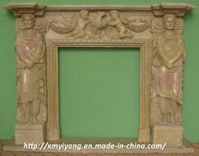 Carving Marble Fireplace for Outdoor /Indoor