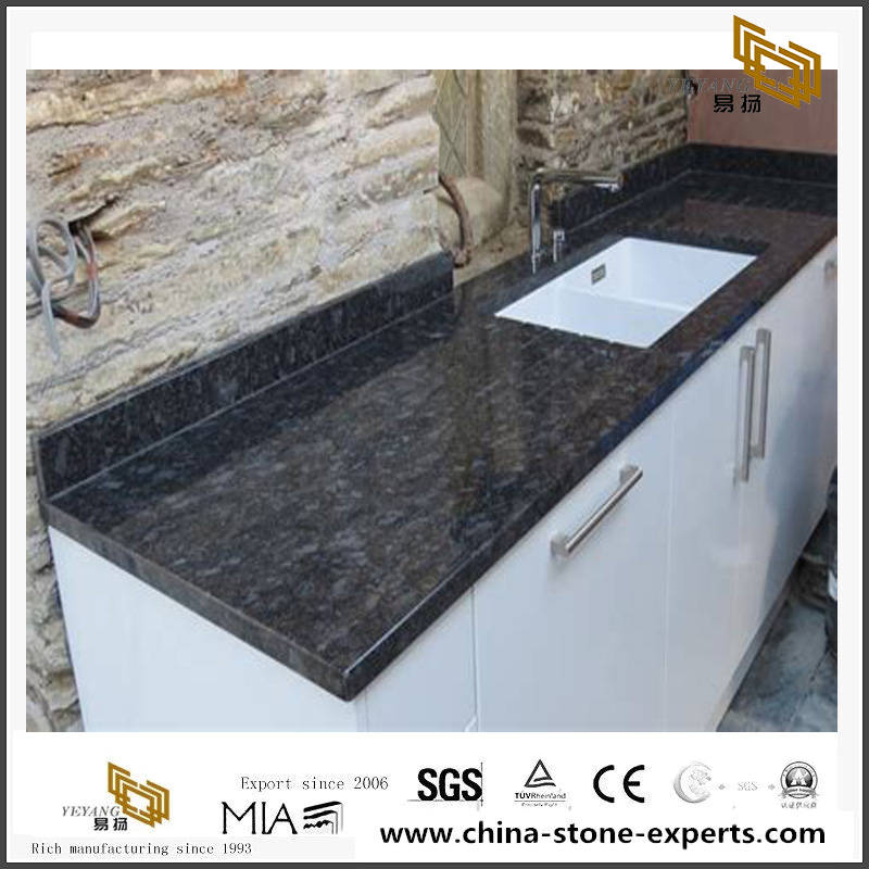 Steel Gray Granite For Kitchen Polished Countertop - Buy ...