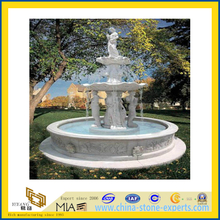 Stone Marble Carved Water Fountain for Outdoor Garden Landscape(YQC)