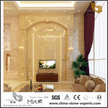 Latest Design Golden Marble Background for Hall Design (YQW-MB0726028)