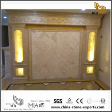 Beautiful Translucent Marble Backgrounds for Hall,Bathroom Wall Decor (YQW-MB0726010)