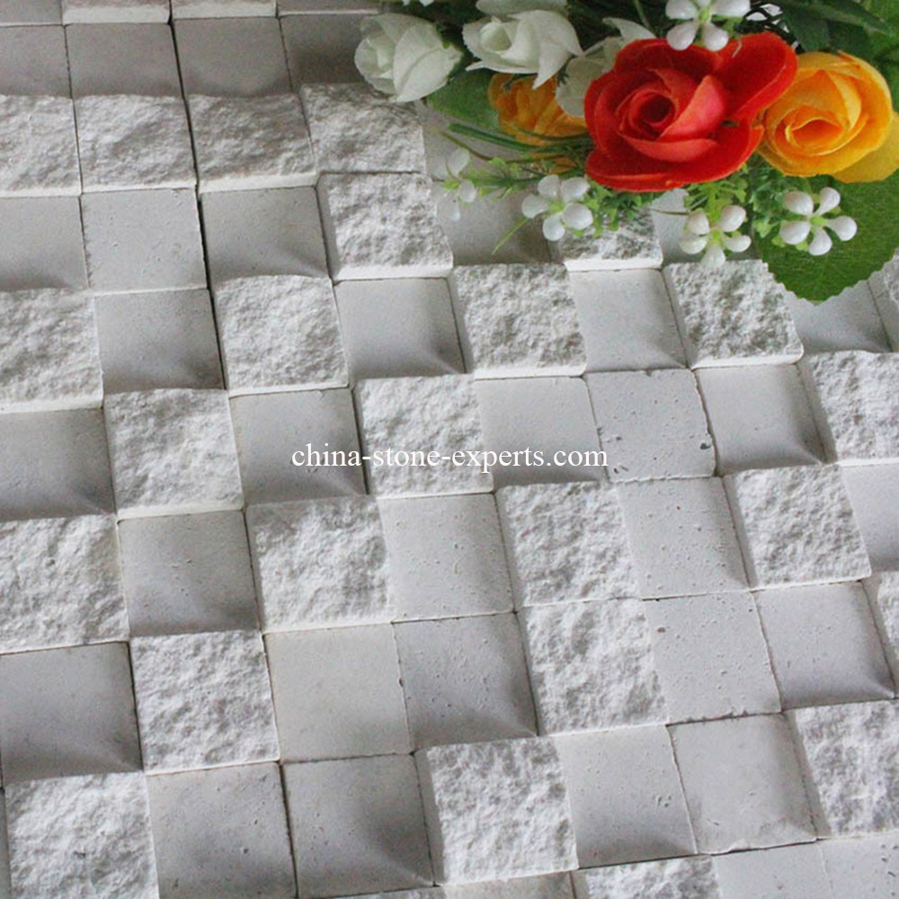 White Culture Stone Mosaic Tile for Decoration / Background Wall(YQZ-M1005)