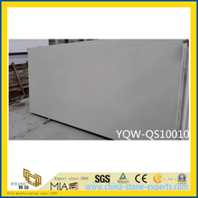 Solid Surface Grey Quartz Stone for Kitchen, Bathroom Vanity Top