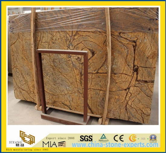 Rain Forest Brown Marble Slabs for Flooring Tile, Wall Tile-Yya