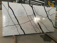 White calacatta quartz countertop factory custom-made kitchen vanity top