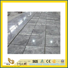 Natural Polished Silver Grey Marble Tile for Wall/Flooring (YQC)