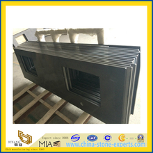 Black Artificial Quartz Countertop for Kitchen, Bathroom(YQG-QS1014)