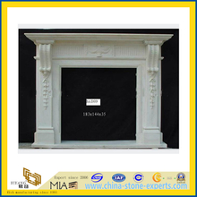 Modern Style Indoor White Granite Fireplace for Home(YQC)