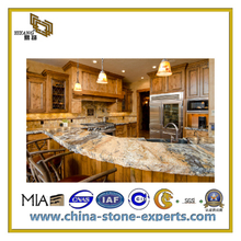 Black / White / Yellow Bathroom Granite Marble Countertop(YQC-GC1029)