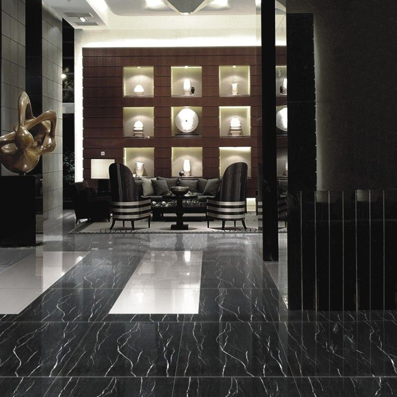 Polished Marble Floor Tile (Dark Emperador Brown/Black Marquina/Golden Coffe) (YQZ-MT1006)
