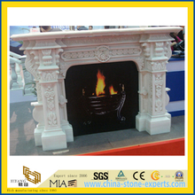 Granite Stone Carved Fireplace for Indoor Decoration