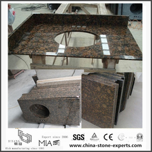 Discount Natural Baltic Brown Granite Vanity tops for Bathroom,Hotel (YQW-GC06051907)