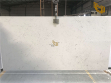 Polished Quartz Middle Flower White Quartz Slab for Wholesale