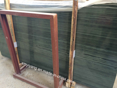 New China Green Marble-Aurora Wood/America Wooden Grain Marble Slab (YY-VNGWM)