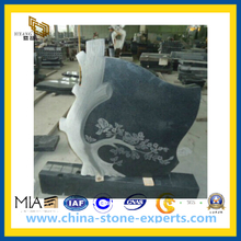 Popular Austrian Black Granite Headstone (YQZ-MN)
