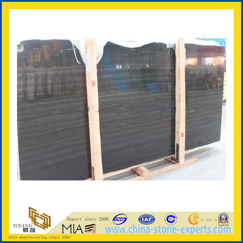 Black Sandal Marble Slab for Flooring Decoration