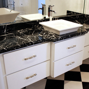 Black Marble Countertops for Bathroom