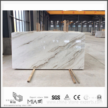 New Arabescato Venato White Marble Slab for Indoor Backgrounds (YQW-MSA21012)