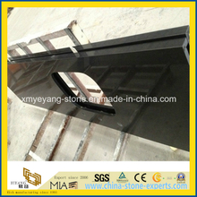Prefab Pure Black Artificial Quartz Stone Worktop or Countertop