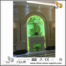 Golden & Green Marble Stone Background Design (YQW-MB081508)