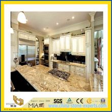 Polished Prefab Callibrated Yellow Granite Countertop for Kitchen/Bathroom (YQC)